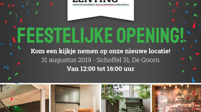 Opening Nieuw Bedrijfspand Lenting Techniek B.V.